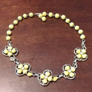 Authentic Vintage yellow necklace